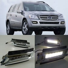 2x LED DRL Daytime Fog Lights Run lamp For Mercedes-Benz X164 GL450 2006-2009