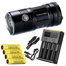 NiteCore TM06S 4000 Lumens LED Flashlight w/ 4 x 3400mAh 18650 & I4 Charger