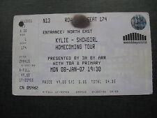 KYLIE  WEMBLEY  08/01/2007 UNUSED TICKET