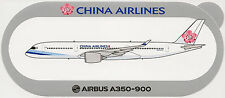 Official Airbus Sticker:  China Airlines A350-900 Taiwan