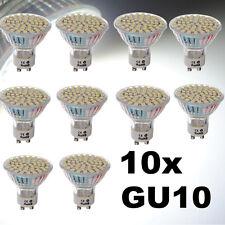 10X GU10 3528 SMD 60 LED Lámpara Bombilla Luz Blanco Bajo Consumo 220V 6500K