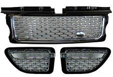 Range Rover Sport Rejilla + ventilación lateral Autobiografía Kit de conversión Negro + Cromado Nuevo