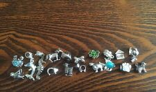 HUGE LOT Of 210 ANIMAL EUROPEAN BEADS CHARMS Dog Cat Pig Horse Fish