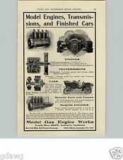 1905 PAPER AD Model Gas Engine Works Co Transmissions Marine Car Auto Automobile