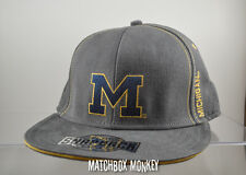 University of Michigan U M Wolverines Baseball Hat Ball Cap Flat Snapback Brim