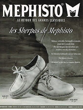 PUBLICITE ADVERTISING 045  1994  MEPHISTO  chaussures  les SHERPAS