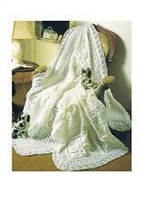 Vintage Knitting Patterns Baby's Shawl and Cot Blanket PATTERNS ONLY DK ±001