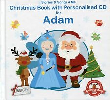 CHRISTMAS BOOK WITH PERSONALISED CD FOR ADAM - STORIES & SONGS 4 ME