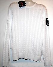 Paul & Shark Yachting Knitted Cotton Men's Italy White Shirt Sweater Sz XL $490