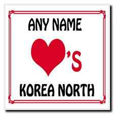 Love Heart Korea North Personalised Coaster