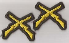 2 Canada Canadian Army Cadets FIRST CLASS SHOT crossed rifles marksman badges