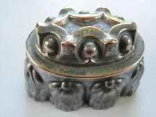 Antique Victorian tin & copper jelly mould F16 1