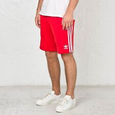 LARGE adidas Originals Men's Fitted SUPERSTAR Track Shorts AA1398  RED  -  WHITE