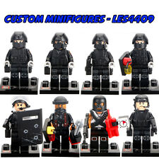 8pc SWAT | Police | Army | Military Soldier Custom Minifigure+FREE LEGO BRICK UK