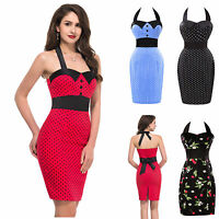 TOP VINTAGE RED+ 1950'S RETRO PENCIL WIGGLE PIN UP PARTY OFFICE DRESS