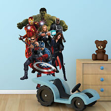 AVENGERS Multi Colour wall art sticker boys bedroom Superhero decal Mural Print