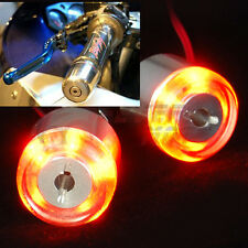 Motorcycle 7/8'' Handlebar End LED Turn Signal Indicator Amber Fit For Suzuki FM