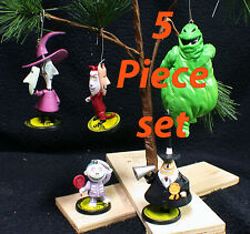 "Nightmare Before Christmas Tree Ornament Set ""Shock, Barrel & Lock, Mayor Boogie"