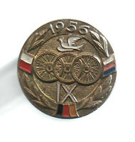 Orig.pin   IX.Course de la Paix / Peace Race 1956  -  Official Logo  !!  RARITY