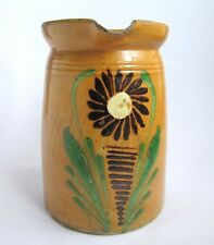 Ancien Pot a Lait Soufflenheim Poterie Alsace Vintage French Milk Jug Pottery