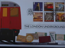 2013 RM London Underground Silver Proof Two Pounds £2 Coin First Day Cover