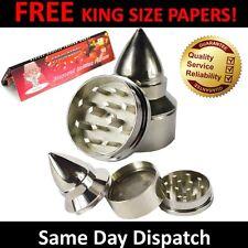 52mm Metal Bullet Shaped 3 Parts Shark Teeth Magnetic Grinder For Herbs Tobacco