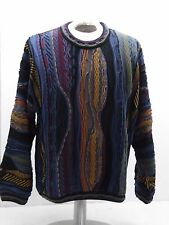 BARACUTA by TUNDRA men's XL cosby style  colorful textured sweater
