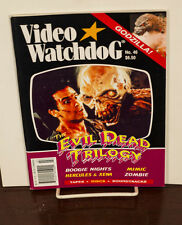 VIDEO WATCHDOG ISSUE #46 EVIL DEAD TRILOGY-BOOGIE NIGHTS-MIMIC NM/MINT