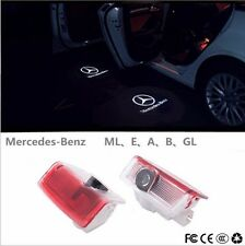 2x Benz W205 C E Class LED Door Step Laser Courtesy Projector Ghost Shadow Light