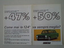 advertising Pubblicità 1973 FIAT 124 BERLINA 1200