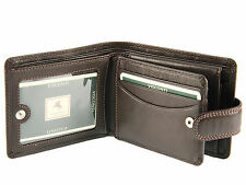 Visconti Gents Soft Leather Wallet For Banknotes, Credit Cards & Coins - Brown