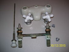A LOT OF VINTAGE PLUMBING SUPPLIES, CERAMIC FAUCETS & FIXTURES, FREE SHIPPING