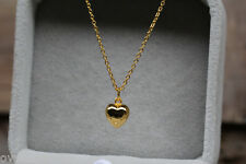 NEW 24K Yellow Gold Pendant / Small Lovely Heart Pendant 1.1g