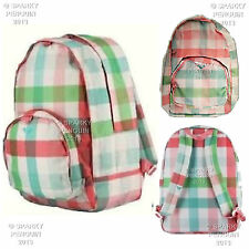 ROXY MULTI COLOURED PASTEL WOMENS / GIRLS BACKPACK RUCKSACK SCHOOL BAG CHECKED