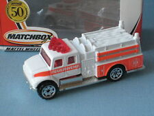 Matchbox International Fire Pumper White Body Feuerwehr Rescue Fire Engine