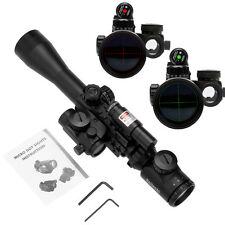 3-9X40 Tactical illuminated Rifle Scope  With Red Laser & Holographic Dot Sight