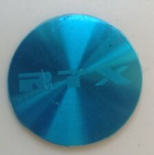 RTX WHEEL SILVER CENTER CAP STICKER/LOGO/EMBLEM