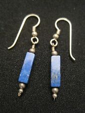 925 Sterling Silver Blue Lapis Dangle Earrings Weighs 2.32 Grams