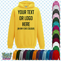 Custom Personalised Baby/Kids/Childrens HOODIE Name Funny Gift- Your text/logo D