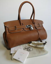 HERMES BIRKIN NEW NEVER USED! JPG 42CM AUTHENTIC ! CARAMEL CLEMENCE LEATHER