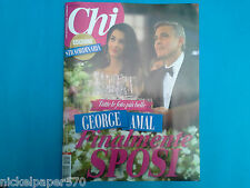 CHI MAGAZINE - MARRIAGE GEORGE CLOONEY AMAL, BELLUCCI, BOCELLI, CANZIAN