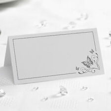 50 TABLE PLACE CARDS Name Setting WHITE SILVER BUTTERFLY Wedding 50 Anniversary