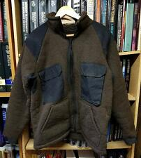 Military Brown Fleece Winter Jacket (Bear Top) , Extreme Cold, Army Issue, Large
