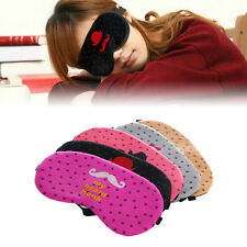New Cute Eye Sleep Mask Sleeping Rest Travel Soft Cover Shade Blinder Blindfold
