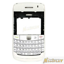New Full Housing Case Cover + Kepyad Replace For Blackberry Bold 9700 9780 White