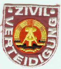 Allemagne de l'Est  - insigne tissus de manche DDR - Protection Civile