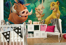 Giant paper wallpaper 368x254cm Lion King Disney wall mural for kids room green