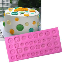 Silicone Buttons Beads Fondant Mould Chocolate Sugarcraft Cake Mold Baking Tool