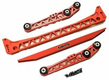 RED LOWER SUBFRAME + TIE BAR + LOWER CONTROL ARMS COMBO FOR EF EG CIVIC B