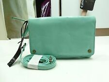 NWT Latico X- Body Bag Mint Leather Flap/ 2 Zip Compartments Antique Ornamets